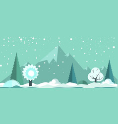 cold winter panoramic spectacular landscape with vector image vector image