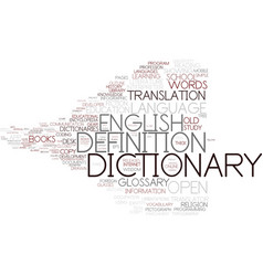dictionary word cloud concept vector image vector image