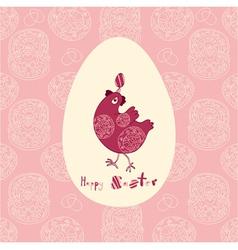 Easter juggling egg vector image