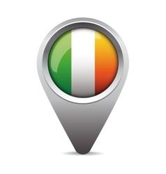 Ireland flag pointer vector image vector image