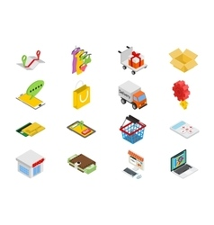 Isometric sale icons set vector image vector image
