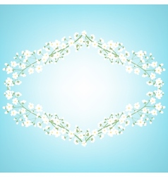 tree branches frame vector image vector image