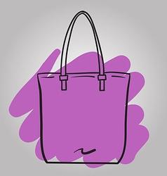 Woman handbag hand drawn fashion vector image vector image