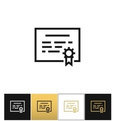 Certificate or seal document icon vector image