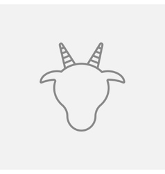 Cow head line icon vector image