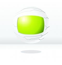 green and white futuristic globe vector image