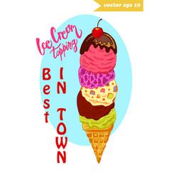 ice cream tower vector image