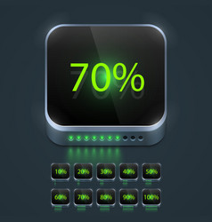 loading button set vector image
