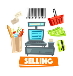 shopping retail selling shop items icons vector image vector image