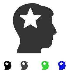 star head flat icon vector image vector image