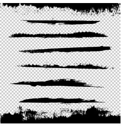 black blots vector image
