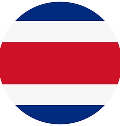 Costa rica flag vector image vector image