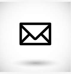 mail flat icon vector image vector image