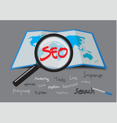 Seo search engine optimization vector