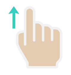 swipe up flat icon touch and hand gestures vector image vector image