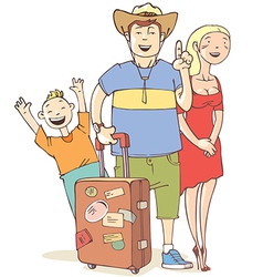 Tourists Family vector image vector image