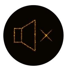 Audio speaker volume icon of gold lights vector image vector image