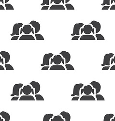 family seamless pattern vector image vector image