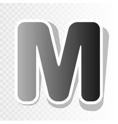 letter m sign design template element new vector image