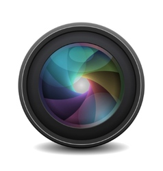 Photo Lens isolated on white background vector image vector image