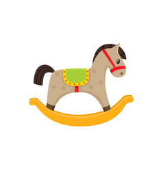 rocking horse wooden toy flat vector image