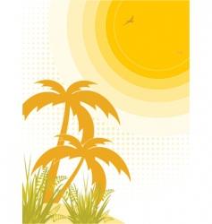tropical heat vector image