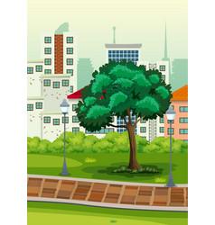 A simple park scene vector