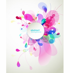 abstract colored flower background with circles vector image