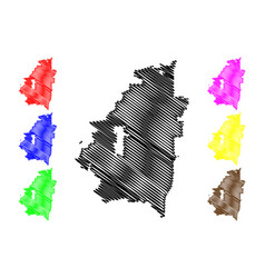 arlington city map vector image