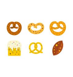bakery icon set flat style vector image