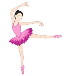 Ballerina posing vector image