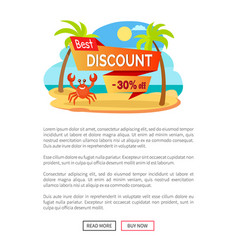 best discount 30 percent off advertisement label vector image