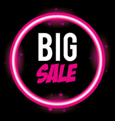 big sale promotion icon vector image