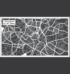 birmingham great britain city map in black vector image