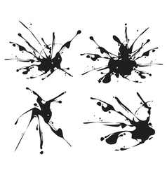 Black stains vector
