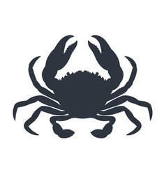 Blue crab silhouette vector