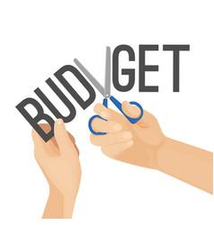 Budget cutting process vector