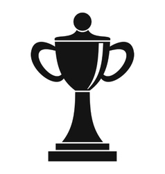 Championship cup icon simple style vector