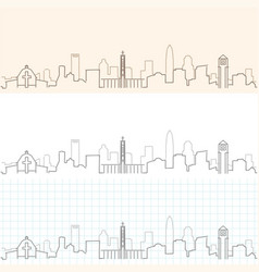 Charlotte hand drawn skyline vector