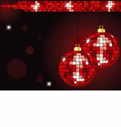 Christmas mirror ball baubles vector image