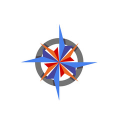 Compass abstract icon element vector