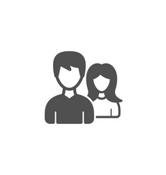 couple simple icon users or teamwork sign vector image