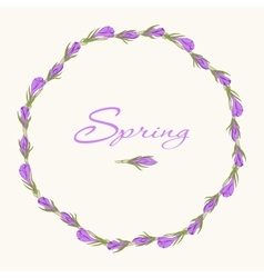 crocus wreath 3 vector image