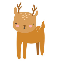 cute deer on white background vector image