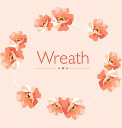 Cute Floral wreath in pastel colors vector image