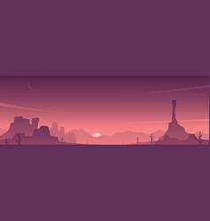 Desert and beautiful sky scene vector