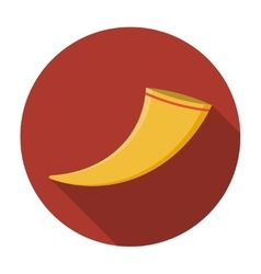 Drinking horn icon flat vector