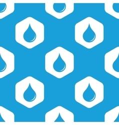 Drop hexagon pattern vector