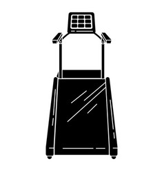 Electric treadmill icon simple style vector