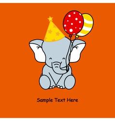 Elephant birthday vector